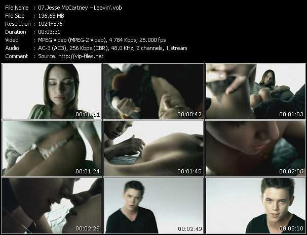 download Jesse McCartney « Leavin' » video vob