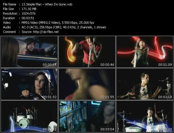 download Simple Plan « When I'm Gone » video vob
