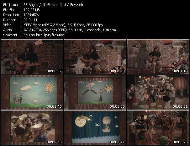 video Just A Boy screen