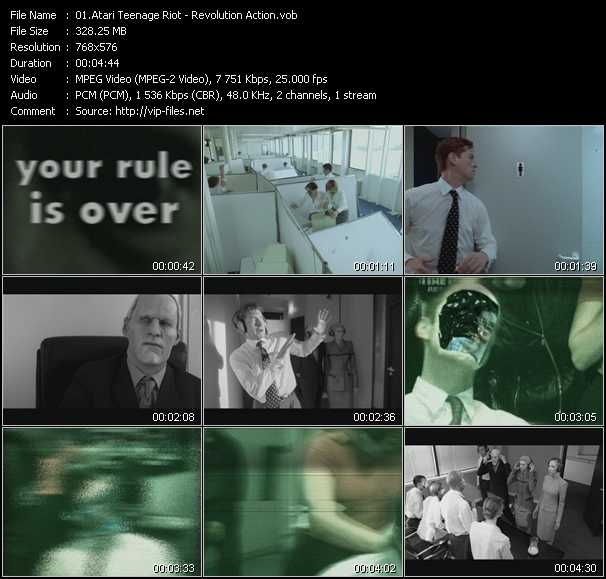 video Revolution Action screen