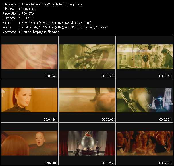 download Garbage « The World Is Not Enough » video vob