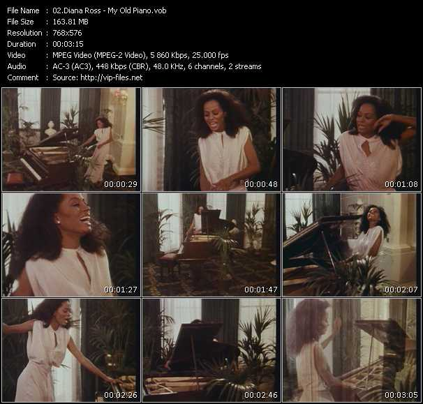 download Diana Ross « My Old Piano » video vob