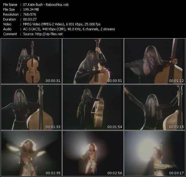 download Kate Bush « Babooshka » video vob