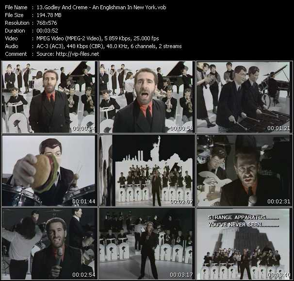download Godley And Creme « An Englishman In New York » video vob