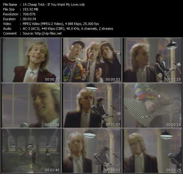 download Cheap Trick « If You Want My Love » video vob