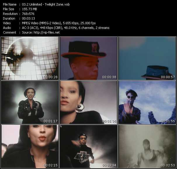 download 2 Unlimited « Twilight Zone » video vob