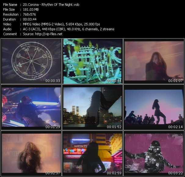 download Corona « Rhythm Of The Night » video vob
