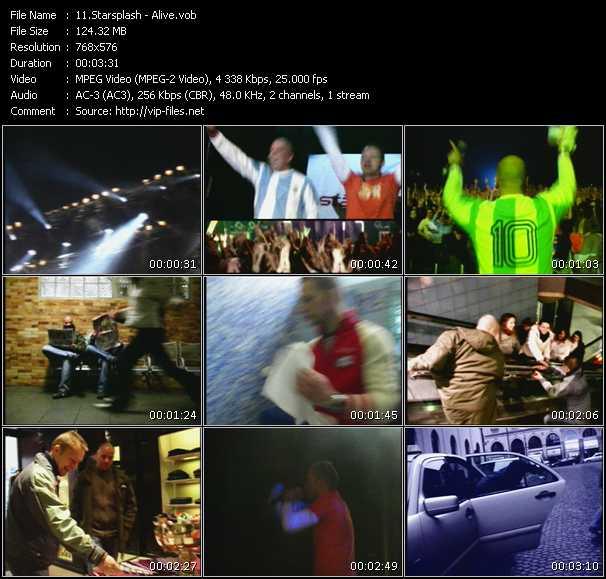 download Starsplash « Alive » video vob