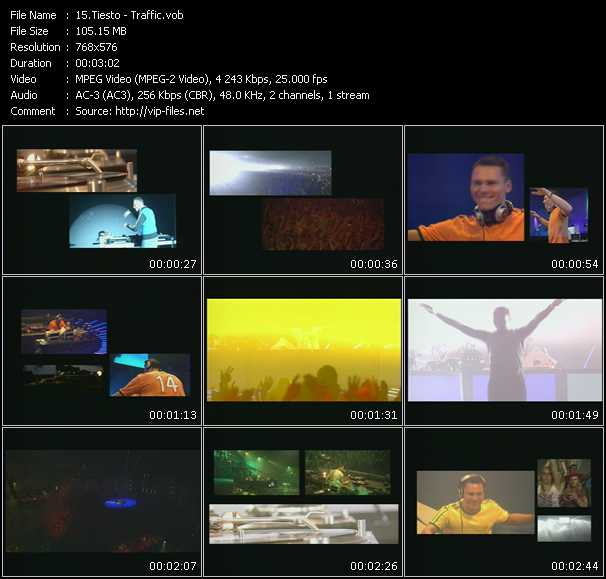 download Tiesto « Traffic » video vob
