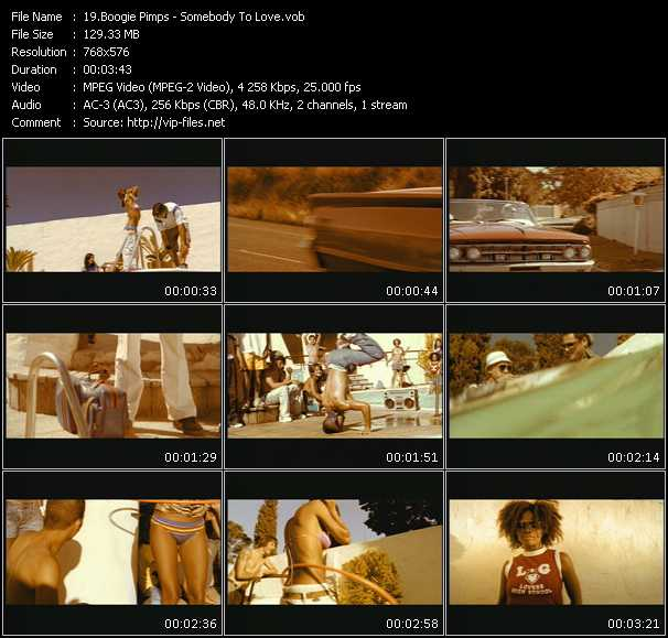 download Boogie Pimps « Somebody To Love » video vob