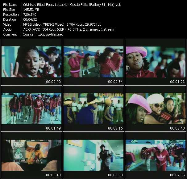 download Missy Elliott Feat. Ludacris « Gossip Folks (Fatboy Slim Mix) » video vob