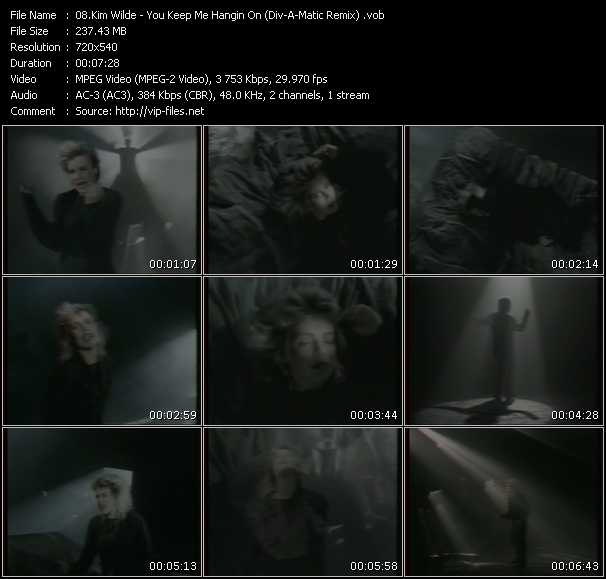 download Kim Wilde « You Keep Me Hangin On (Div-A-Matic Remix) » video vob