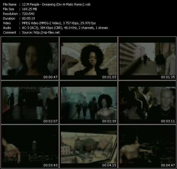 download M People « Dreaming (Div-A-Matic Remix) » video vob