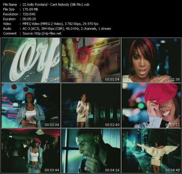 video Cant Nobody (Silk Mix) screen