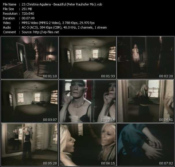 video Beautiful (Peter Rauhofer Mix) screen