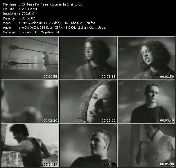 download Tears For Fears « Woman In Chains » video vob
