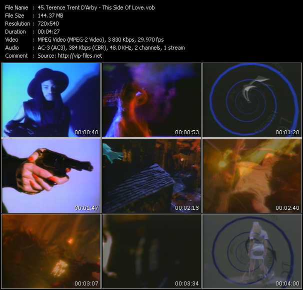 download Terence Trent D'Arby « This Side Of Love » video vob