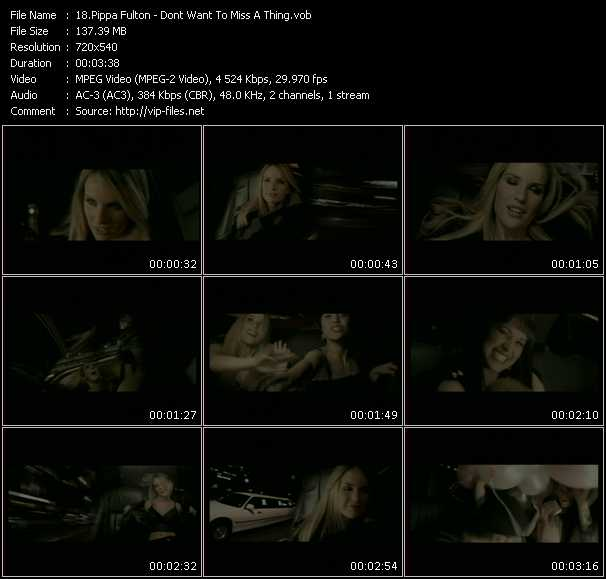 download Pippa Fulton « Don't Want To Miss A Thing » video vob