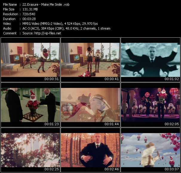 download Erasure « Make Me Smile (Come Up And See Me) » video vob