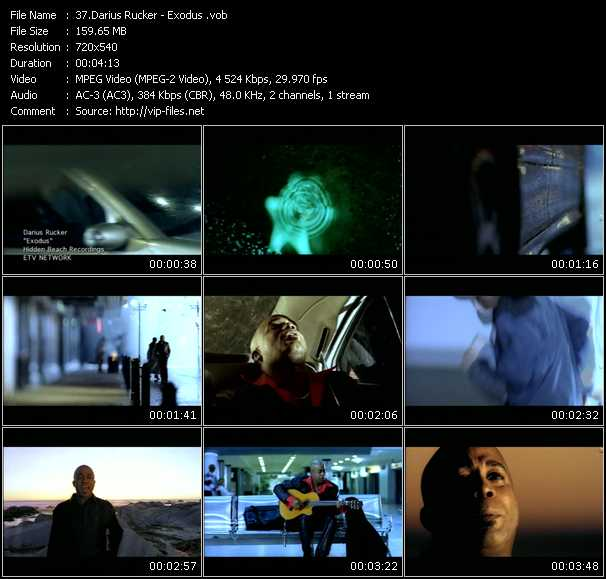 download Darius Rucker « Exodus » video vob