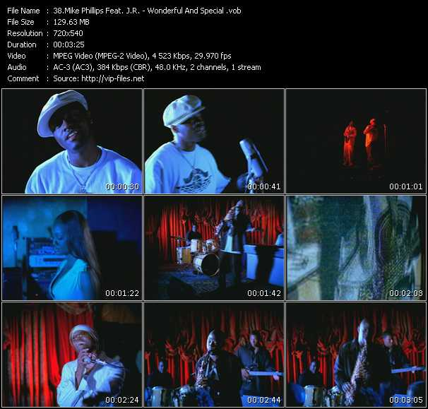 download Mike Phillips Feat. J.R. « Wonderful And Special » video vob
