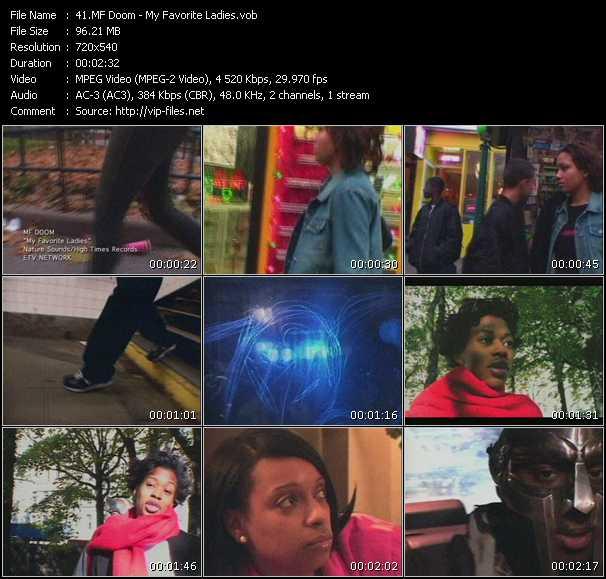 download MF Doom « My Favorite Ladies » video vob