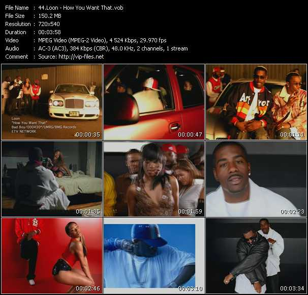 download Loon « How You Want That » video vob