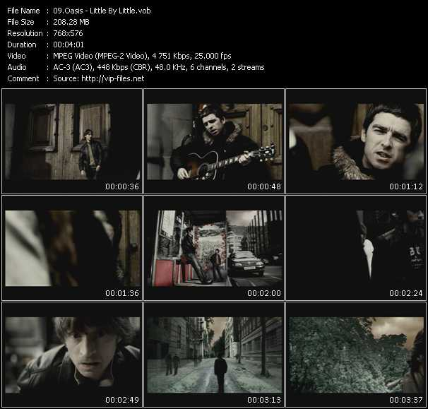 download Oasis « Little By Little » video vob