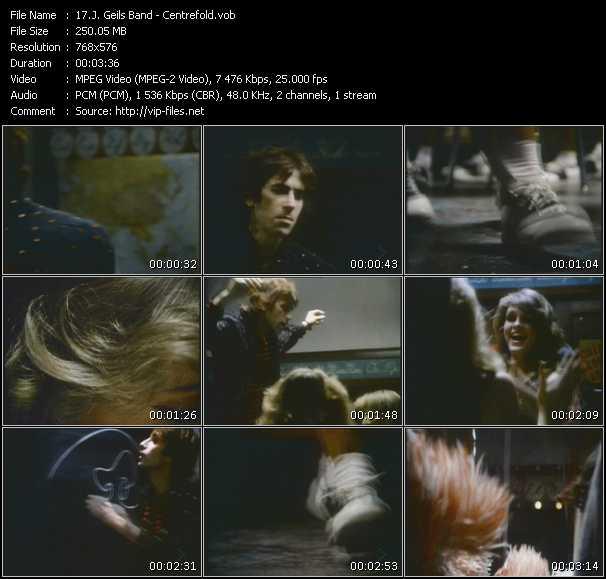 video Centrefold screen