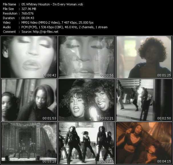 download Whitney Houston « I'm Every Woman » video vob