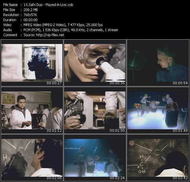 Safri duo hit mix live eurovision 2001