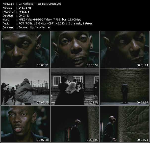 download Faithless « Mass Destruction » video vob