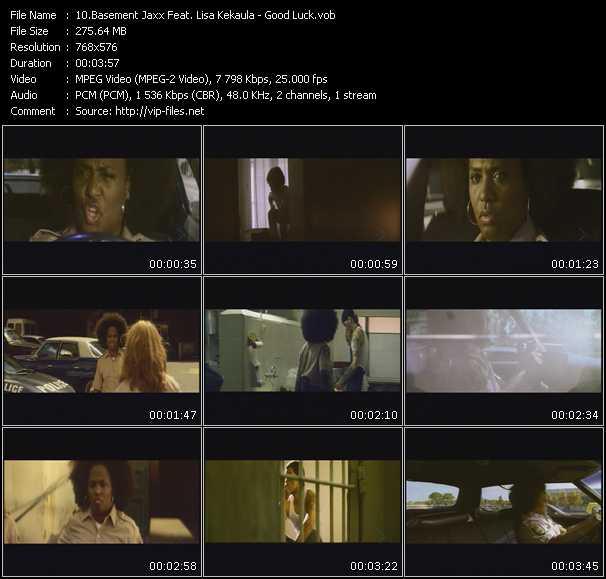 download Basement Jaxx Feat. Lisa Kekaula « Good Luck » video vob