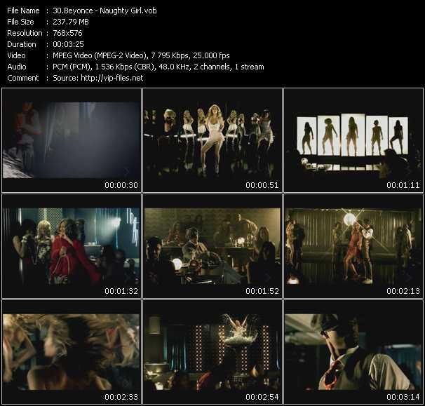 download Beyonce « Naughty Girl » video vob