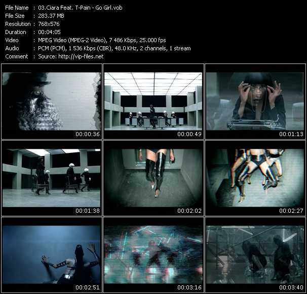 download Ciara Feat. T-Pain « Go Girl » video vob