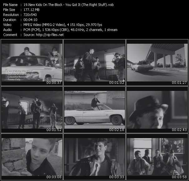 download New Kids On The Block « You Got It (The Right Stuff) » video vob