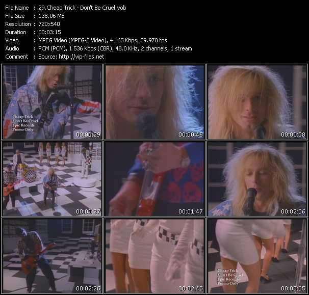 download Cheap Trick « Don't Be Cruel » video vob