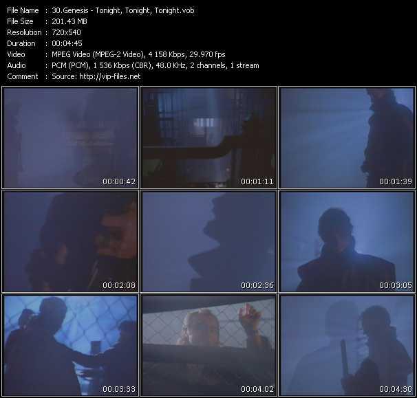 download Genesis « Tonight, Tonight, Tonight » video vob