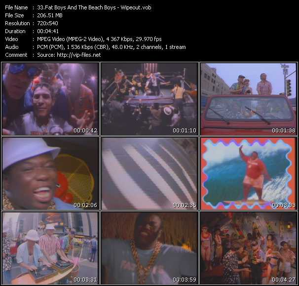 download Fat Boys And The Beach Boys « Wipeout » video vob