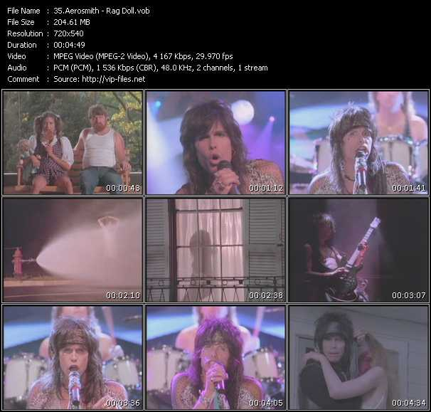 download Aerosmith « Rag Doll » video vob