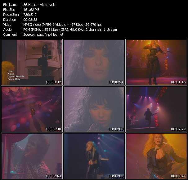 download Heart « Alone » video vob