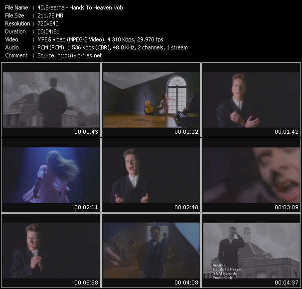 download Breathe « Hands To Heaven » video vob