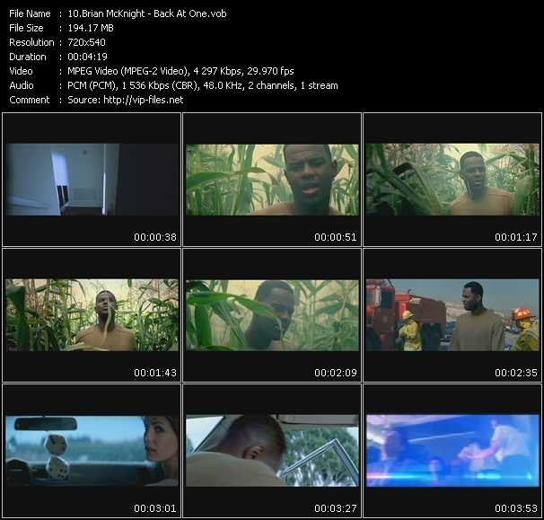 download Brian McKnight « Back At One » video vob