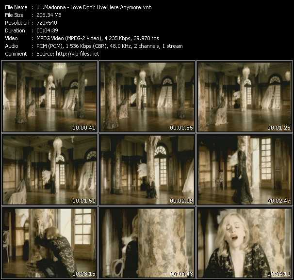 download Madonna « Love Don't Live Here Anymore » video vob