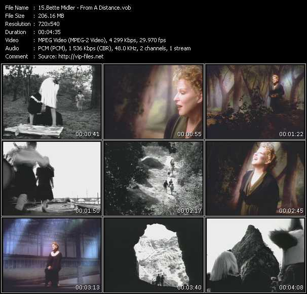 download Bette Midler « From A Distance » video vob
