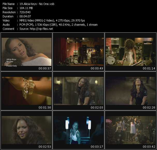 download Alicia Keys « No One » video vob
