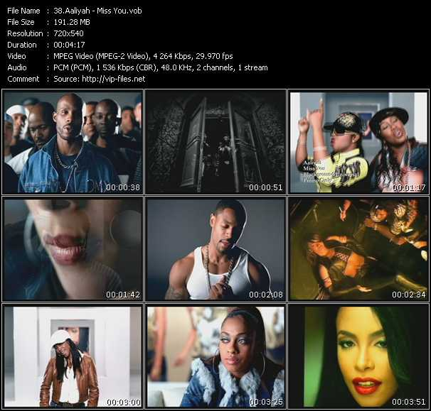 download Aaliyah « Miss You » video vob