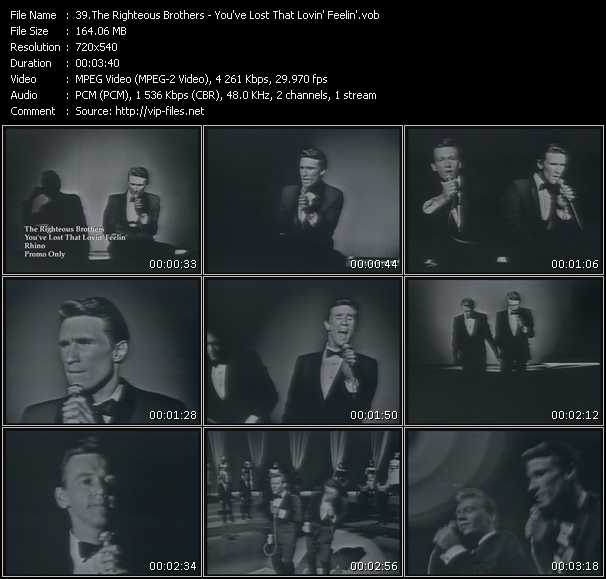 download Righteous Brothers « You've Lost That Lovin' Feelin' » video vob