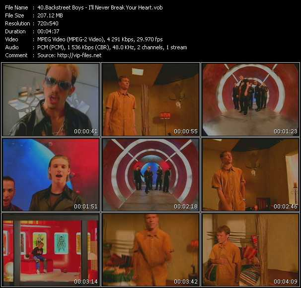 download Backstreet Boys « I'll Never Break Your Heart » video vob