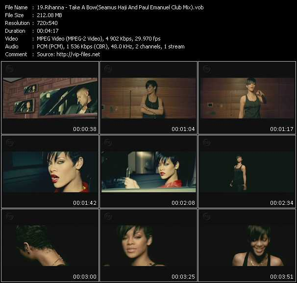 video Take A Bow (Seamus Haji And Paul Emanuel Club Mix) screen